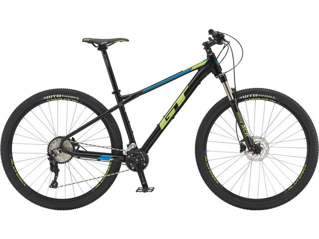 "GT Bicycles Avalanche Elite 29"" gloss gunmetal/cyan/black"